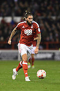 Nottingham Forest midfielder Henri Lansbury (10) during the EFL Sky Bet Championship match between Nottingham Forest and Birmingham City at the City Ground, Nottingham, England on 14 October 2016. Photo by Jon Hobley.