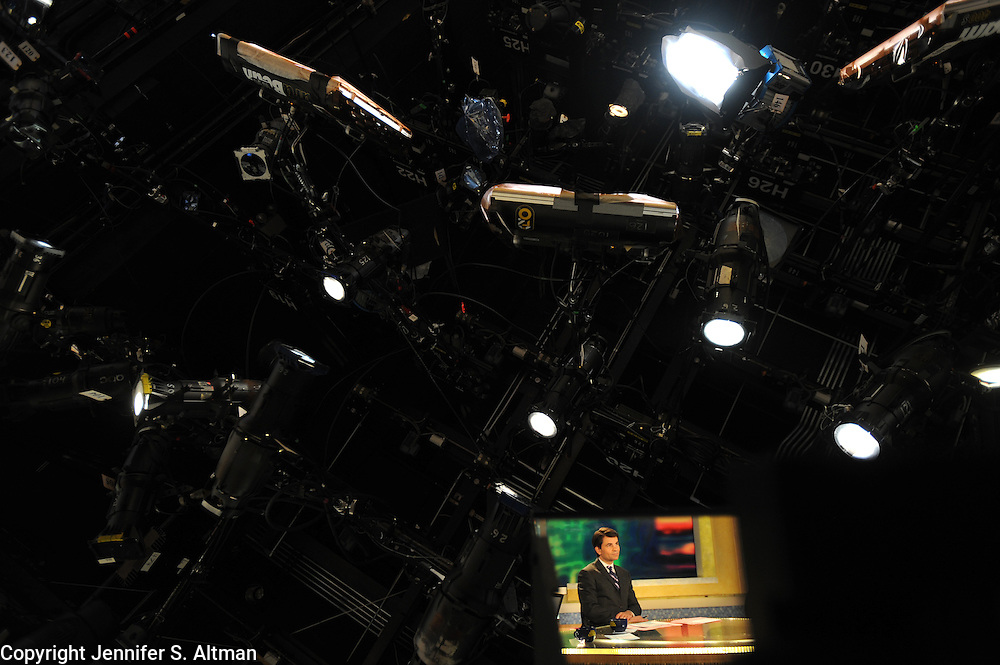 MANHATTAN, NEW YORK, JANUARY 26, 2010 Anchor George Stephanopoulos is seen on the set of Good Morning America at ABC Studios in Times Square in Manhattan, NY. 1/26/2010 Photo by Jennifer S. Altman/For The Times