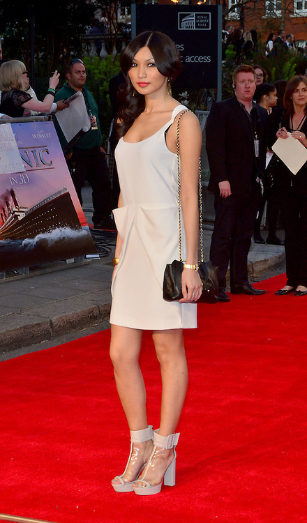 27.MARCH.2012. LONDON<br /> <br /> GEMMA CHAN AT THE TITANIC 3D PREMIERE HELD AT THE ROYAL ALBERT HALL IN KENSINGTON, LONDON<br /> <br /> BYLINE: EDBIMAGEARCHIVE.COM/JOE ALVAREZ<br /> <br /> *THIS IMAGE IS STRICTLY FOR UK NEWSPAPERS AND MAGAZINES ONLY*<br /> *FOR WORLD WIDE SALES AND WEB USE PLEASE CONTACT EDBIMAGEARCHIVE - 0208 954 5968*