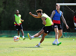 Bobby Reid of Bristol City Shoots  - Photo mandatory by-line: Joe Meredith/JMP - Mobile: 07966 386802 - 17/07/2015 - SPORT - Football - Albufeira -  - Pre-Season Training
