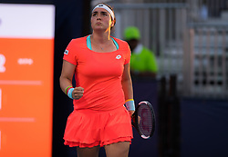 March 21, 2019 - Miami, FLORIDA, USA - Ons Jabeur of Tunesia in action during her first-round match at the 2019 Miami Open WTA Premier Mandatory tennis tournament (Credit Image: © AFP7 via ZUMA Wire)