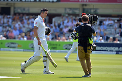© Licensed to London News Pictures. 18/07/2013. England's Kevin Pieterson leaves the field after his dismissal on day one of  Second Test England v Australia The Ashes Lord's Cricket Ground, London 18/07/2013<br /> . Photo credit: Mike King/LNP