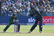 Jason Roy of England on the attack during the third Royal London One Day International match between England and Pakistan at the Bristol County Ground, Bristol, United Kingdom on 14 May 2019.