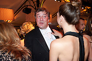 STEPHEN FRY; MARGOT STILLEY, Evgeny Lebedev and Graydon Carter hosted the Raisa Gorbachev charity Foundation Gala, Stud House, Hampton Court, London. 22 September 2011. <br /> <br />  , -DO NOT ARCHIVE-© Copyright Photograph by Dafydd Jones. 248 Clapham Rd. London SW9 0PZ. Tel 0207 820 0771. www.dafjones.com.