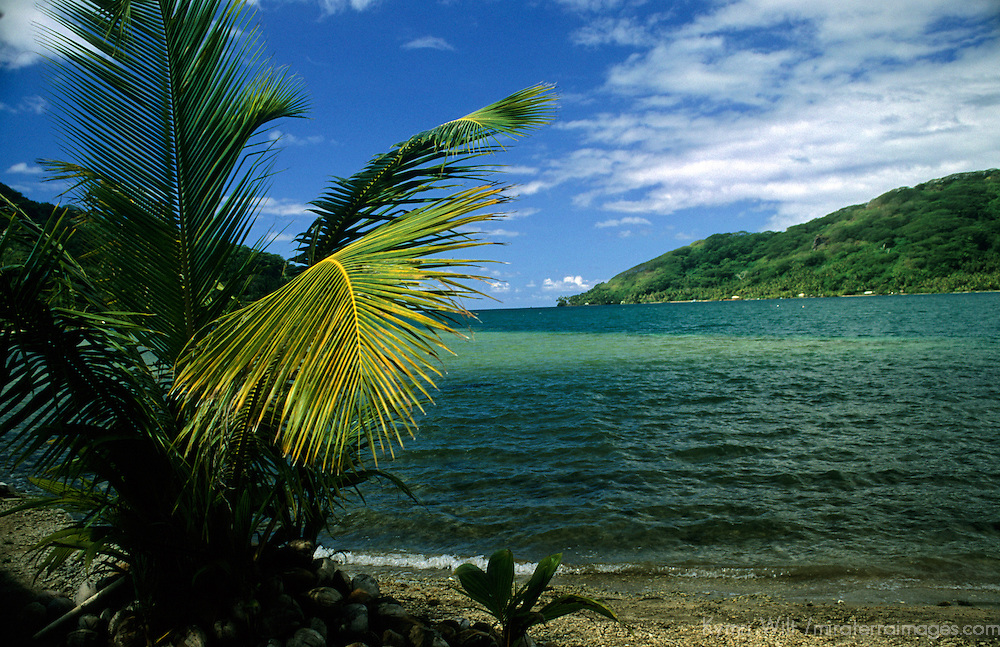Oceania, South Pacific, French Polynesia, Tahiti, Taha'a. Scenic view from the island of Taha'a.