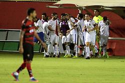 April 14, 2017 - Jogadores do Paraná comemoram gol em lance da partida contra o Paraná, jogo realizado no estádio Manoel Barradas, em Salvador, válido pela quarta fase da Copa do Brasil de 2017. (Credit Image: © Edson Ruiz/Fotoarena via ZUMA Press)