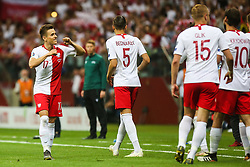 June 10, 2019 - Warsaw, Poland - Polish midfielder Damian Kadzior celebrates with teammate Jan Bednarek during the UEFA Euro 2020 qualifier Group G football match Poland against Israel on June 10, 2019 in Warsaw, Poland. (Credit Image: © Foto Olimpik/NurPhoto via ZUMA Press)