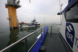 UK ENGLAND NORFOLK SHERINGHAM SHOAL 25SEP13 - Tidal Transit vessel Eden Rose at work at the Sheringham Shoal wind farm off the Norfolk coast, England.<br /> <br /> <br /> <br /> jre/Photo by Jiri Rezac<br /> <br /> <br /> <br /> © Jiri Rezac 2013