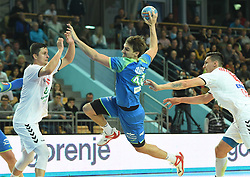 Sebastian Skube of Slovenia during friendly handball match between Slovenia and Srbija, on October 27th, 2019 in Športna dvorana Lukna, Maribor, Slovenia. Photo by Milos Vujinovic / Sportida