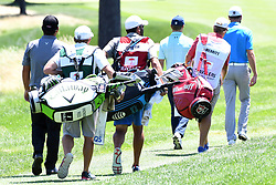 June 24, 2017 - Cromwell, Connecticut, U.S - The final group of Patrick Reed, Troy Merritt and Jordan Spieth approach the third fairway during the third round of the Travelers Championship at TPC River Highlands in Cromwell, Connecticut. (Credit Image: © Brian Ciancio via ZUMA Wire)
