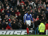Photo: Lee Earle.<br /> Portsmouth v Charlton Athletic. The Barclays Premiership. 20/01/2007. Portsmouth's Sol Campbell looks dejected after Charlton scored.
