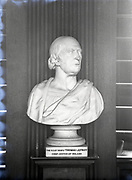 Chief Justice of Ireland Thomas Lefroy. Bust, Trinity College Dublin 8-5-1956,<br />