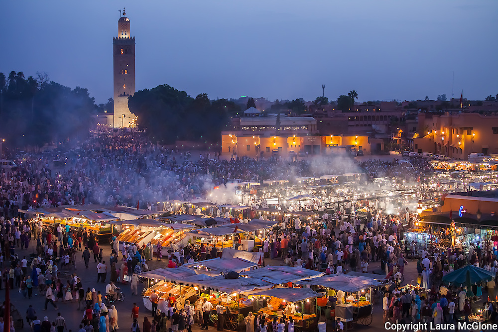 Jemaa El Fna Night Market, Marrakesh Morocco