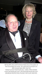 MR & MRS WILLIAM SHAND-KYDD she is the sister of the Countess of Lucan, at a dinner in London on 30th November 2001.OUT 23