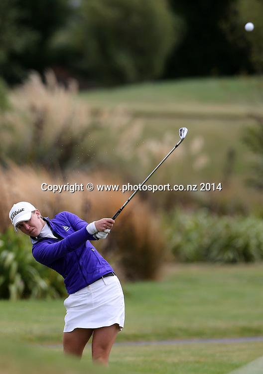 NZ women's golf open at Clearwater resort.<br /> Day 2.<br /> Sally Watson (Scotland)