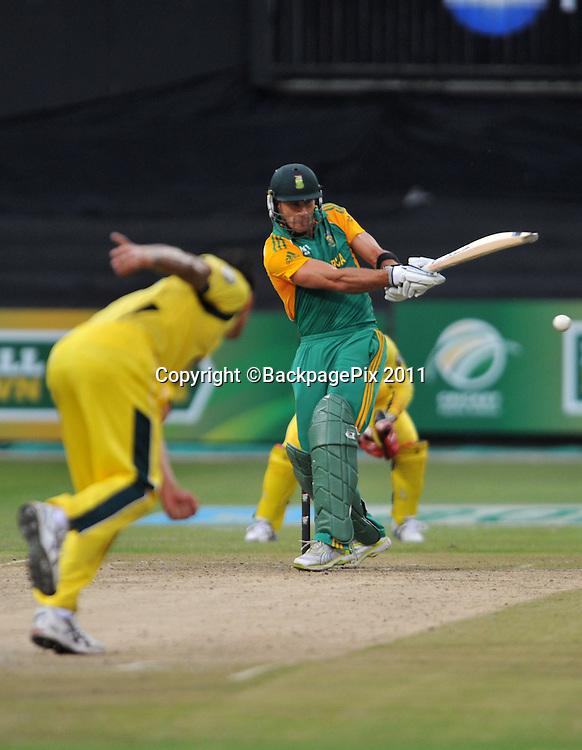 Faf du Plessis , South Africa. Cricket - 2011 One Day International - South Africa v Australia - Kingsmead Stadium - Durban<br /> <br /> &copy; Sabelo Mngoma/BackpagePix