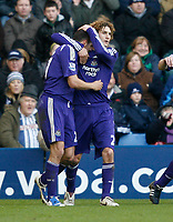 Photo: Steve Bond/Richard Lane Photography. West Bromwich Albion v Newcastle United. Barclays Premiership. 07/02/2009. Fabricio Coloccini (R) congratulates Steven Taylor (L)