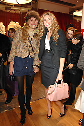 Left to right, actress RACHEL MITCHEM and actress TAMSIN EGERTON at a party to celebrate the opening of the new Uniqlo store at 331 Oxford Street, London W1 on 6th November 2007.<br /><br />NON EXCLUSIVE - WORLD RIGHTS