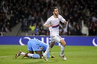 FOOTBALL - FRENCH CHAMPIONSHIP 2009/2010 - L1 - OLYMPIQUE LYONNAIS v LE MANS UC - 15/05/2010 - PHOTO JEAN MARIE HERVIO / DPPI - JOY MIRALEM PJANIC (OL) AFTER HIS GOAL