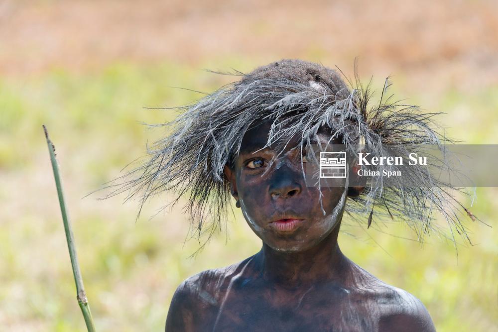 Dani boy at Baliem Valley Festival, Wamena, Papua, Indonesia