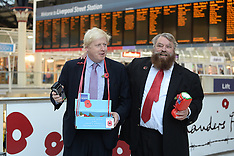 OCT 27 2014 Boris Johnson joins Brian Blessed handing out poppies