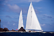 Ethereal sailing in the 2011 St. Barth's Bucket Regatta, race 2.