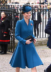 The Duchess of Cambridge attends the Anzac Day Service of Commemoration and Thanksgiving at Westminster Abbey, London. Photo credit should read: Doug Peters/EMPICS