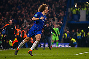 Goal 4-2 Chelsea defender David Luiz (30) scores the winning penalty during the EFL Cup semi final second leg match between Chelsea and Tottenham Hotspur at Stamford Bridge, London, England on 24 January 2019.