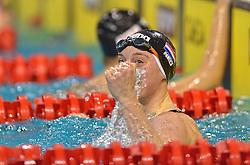 04-04-2015 NED: Swim Cup, Eindhoven<br /> Femke Heemskerk verrast zichzelf met haar toptijd<br /> Photo by Ronald Hoogendoorn / Sportida