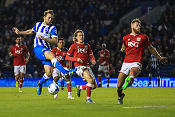 Brighton's Dale Stephens misses a shot on goal - Mandatory byline: Jason Brown/JMP - 07966 386802 - 20/10/2015 - FOOTBALL - American Express Community Stadium - Brighton,  England - Brighton & Hove Albion v Bristol City - Championship