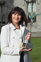 29/02/2014 Brenda Dooley from Axis Health Consulting Ltd and HN Cost Management Ltd who were the joint winners of the SCCUL Enterprise Business Services Award. The winner was announced at the annual SCCUL Enterprise Awards prize giving ceremony and business expo which was hosted by NUI Galway in the Bailey Allen Hall, NUIG .<br />  <br /> Inspired by the rapidly growing global trends of health and wellness, NUA Naturals supplies and distributes high quality health food in Ireland and the UK while also sourcing raw ingredients internationally which are then packaged and distributed under the NUA brand name.<br />  <br /> Established in 2011, NUA Naturals currently employs 11 people at their base in Westside, Galway. The company entered the UK market last year and has plans to increase their reach internationally over the next 18 months.<br />  <br /> NUA Naturals&rsquo; Niall Fennell was presented with his prize by Padraig O&rsquo; Callaghan, Chairman of St. Columba&rsquo;s Credit Union Galway, and John Lenihan, Chairman of SCCUL Enterprises who jointly sponsored the winner&rsquo;s prize.<br />  <br /> Speaking at the event, Mr. Fennell said that he was honored and delighted to receive this award.<br />  <br /> &ldquo;Entering the SCCUL Awards has been an incredible experience for us. It has allowed us to take a step back and really look at our business. We will invest our award back into our business to help us take our business to the next level,&rdquo; said Mr. Fennell.<br />  <br /> NUA Naturals also receives a &euro;2500 advertising package from local media sponsor Galway Independent and a specially commissioned sculpture by Galway based sculptor, Liam Butler. Photo:Andrew Downes