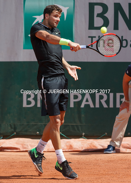 GRIGOR DIMITROV (BUL)<br /> <br /> Tennis - French Open 2017 - Grand Slam / ATP / WTA / ITF -  Roland Garros - Paris -  - France  - 2 June 2017.