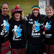 Images from The Glasgow Kiltwalk 2013.Kiltwalkers at the start of the half distance walk in Clydebank