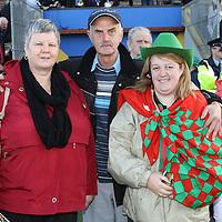 Carmel Mininhan, Tom Minahan & Ann Marie Killeen after the final whistle of the County Football Final. <br /> Photograph by Flann Howard