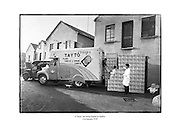 A Tayto van being loaded in Dublin<br /> <br /> 31st January 1958