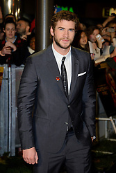 Liam Hemsworth at The World Premiere of 'The Hunger Games: Catching Fire'. Leicester Square, London, United Kingdom. Monday, 11th November 2013. Picture by Chris Joseph / i-Images