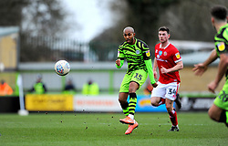 Rob Hall of Forest Green Rovers shoots at goal- Mandatory by-line: Nizaam Jones/JMP - 08/02/2020 - FOOTBALL - New Lawn Stadium - Nailsworth, England - Forest Green Rovers v Walsall - Sky Bet League Two
