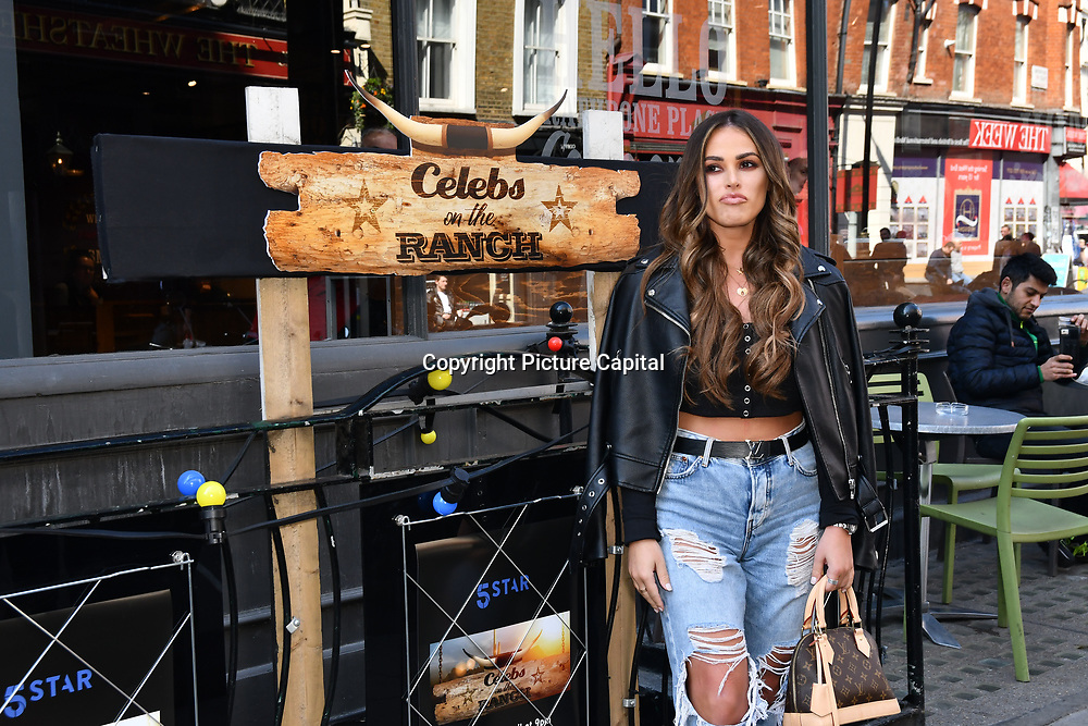 The Only Way Is Essex's Courtney Green attend Celebs On The Ranch photocall at Jerusalem Bar & Kitchen, on 1st April 2019, London, UK.