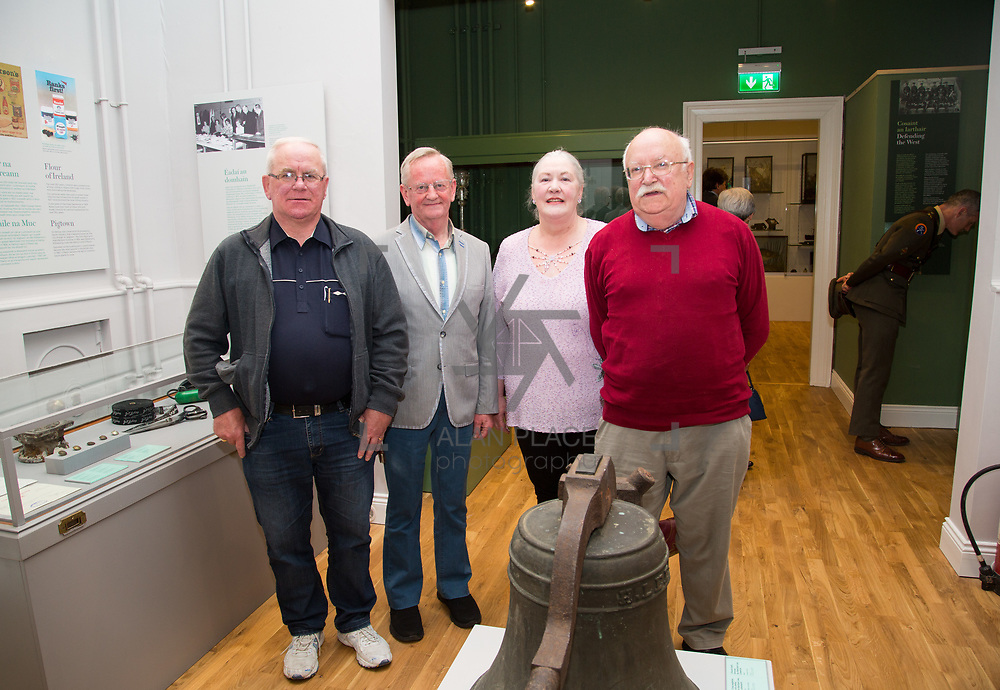 30.05. 2017.                                             <br /> Limerick Museum opened the doors to its new home at the former Franciscan Friary on Henry Street in the heart of Limerick city, dedicated to the memory of Jim Kemmy, the former Democratic Socialist Party and Labour Party TD for Limerick East and two-time Mayor of Limerick.<br /> <br /> Pictured at he opening of the Museum were, Tadhg Moloney, Liam Irwin, Mary Kelly and Sean Kelly.<br /> <br /> The museum will house one of the largest collections of any Irish museum. Picture: Alan Place