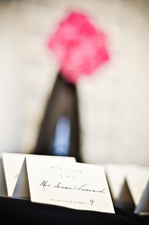 Kelly's crisp calligraphic name cards at The Armour House, Lake Forest, Illinois