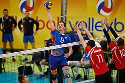 20170525 NED: 2018 FIVB Volleyball World Championship qualification, Koog aan de Zaan<br />Stefan Jr Chrtiansky (13) of Slovakia <br />©2017-FotoHoogendoorn.nl / Pim Waslander
