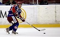 Ishockey<br /> GET-Ligaen<br /> 18.09.08<br /> Jordal Amfi<br /> Vålerenga VIF - Stjernen<br /> Steffen Thoresen<br /> Foto - Kasper Wikestad