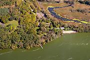 Aerial photograph of Lake Kegonsa State Park, Wisconsin, USA.