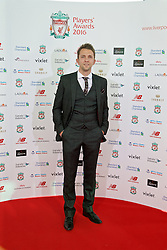 LIVERPOOL, ENGLAND - Thursday, May 12, 2016: Liverpool Ladies manager Scott Rogers arrives on the red carpet for the Liverpool FC Players' Awards Dinner 2016 at the Liverpool Arena. (Pic by David Rawcliffe/Propaganda)