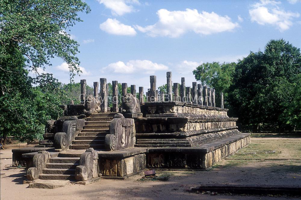 The Royal Audience Hall at Polonnaruwa.