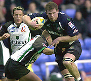 14/12/2003 - Photo  Peter Spurrier.2003/04 Parker Pen Challenge  Cup: London Irish vs Montauban.Exiles No. 8 Phil Murhey breaking through to attack the  try line.   [Mandatory Credit, Peter Spurier/ Intersport Images].