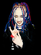Marilyn Manson fan queuing at London Arena, London, 2001.