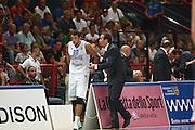 DESCRIZIONE : Bari Qualificazioni Europei 2011 Italia Montenegro<br /> GIOCATORE : Marco Belinelli Simone Pianigiani<br /> SQUADRA : Nazionale Italia Uomini <br /> EVENTO : Qualificazioni Europei 2011<br /> GARA : Italia Montenegro<br /> DATA : 26/08/2010 <br /> CATEGORIA : coach<br /> SPORT : Pallacanestro <br /> AUTORE : Agenzia Ciamillo-Castoria/C.De Massis<br /> Galleria : Fip Nazionali 2010 <br /> Fotonotizia : Bari Qualificazioni Europei 2011 Italia Montenegro<br /> Predefinita :