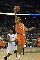 Illinois Fighting Illini forward Brian Randle (42) in action against Virginia Tech.  The #5 seed Virginia Tech Hokies defeated the #12 seed Illinois Illini 54-52 in the first round of the Men's NCAA Tournament in Columbus, OH on March 16, 2007.