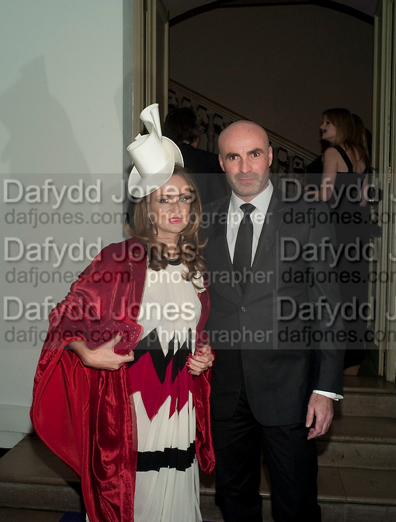 LUCY YEOMANS; JASON BROOKS, The Surrealist Ball in aid of the NSPCC. Hosted by Lucy Yeomans and Harry Blain. Banqueting House. Whitehall. 17 March 2011. -DO NOT ARCHIVE-© Copyright Photograph by Dafydd Jones. 248 Clapham Rd. London SW9 0PZ. Tel 0207 820 0771. www.dafjones.com.